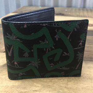 Men's coach Hawaiian print wallet
